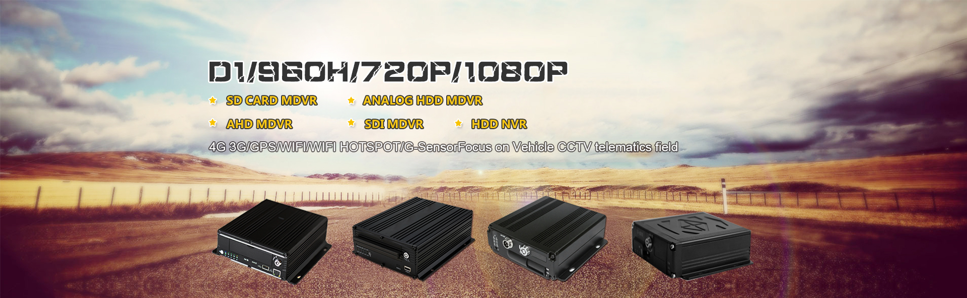 1080P 720P Mobile 3G 4G GPS WIFI MDVR